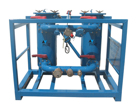 dual pod oilfield filtration unit